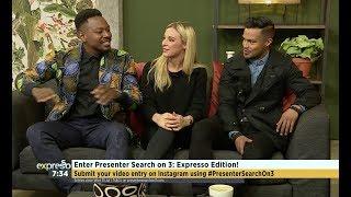 Previous Presenter Search winners, Jade Daniel, Harmony Katulondi & Ryle de Morny!