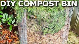 Diy Compost Bin From Hardware Cloth & Branches W/jennifer D. - Brobrycegardens