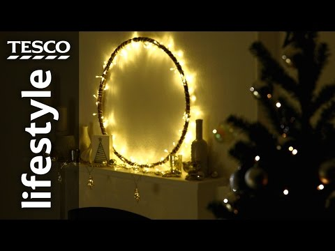 how-to-make-a-chandelier-light-display-with-a-hula-hoop-|-tesco-living