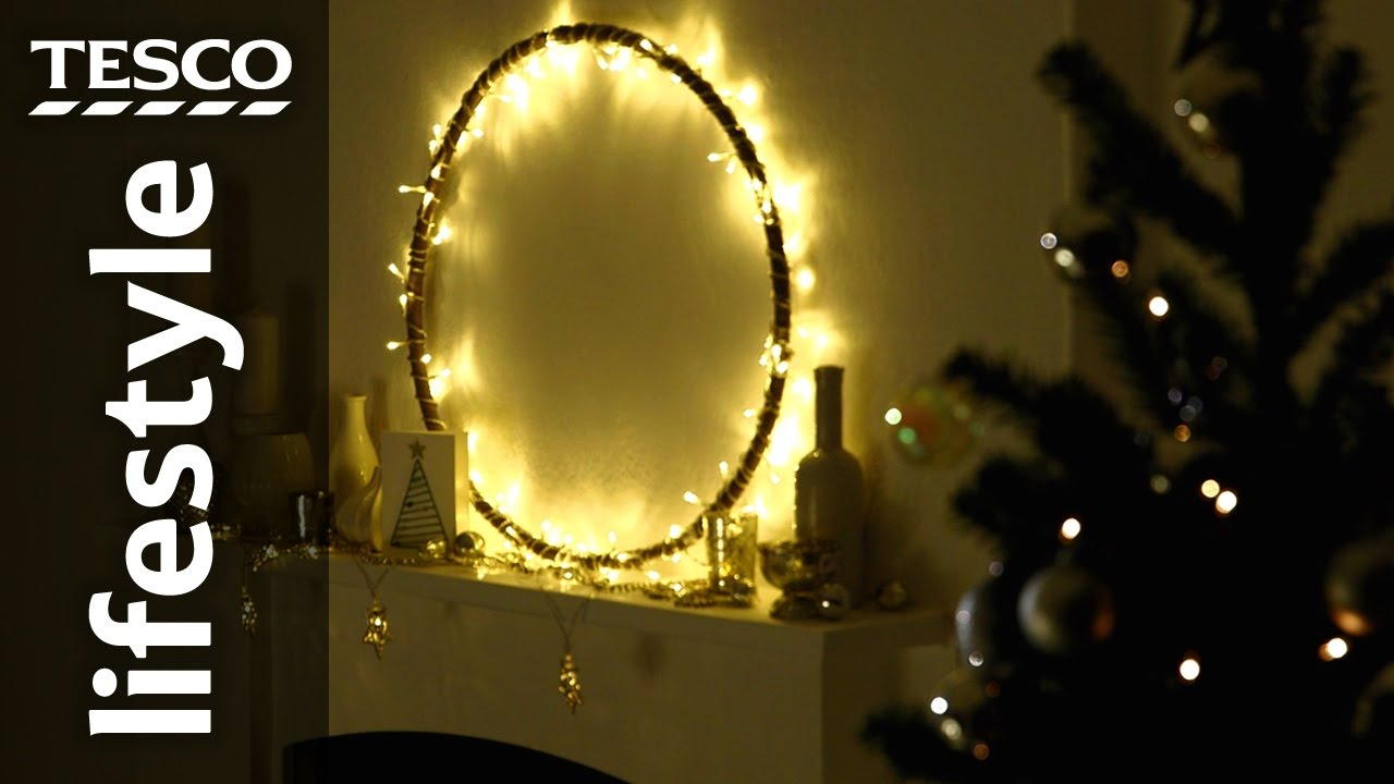How To Make A Chandelier Light Display With Hula Hoop Tesco Living