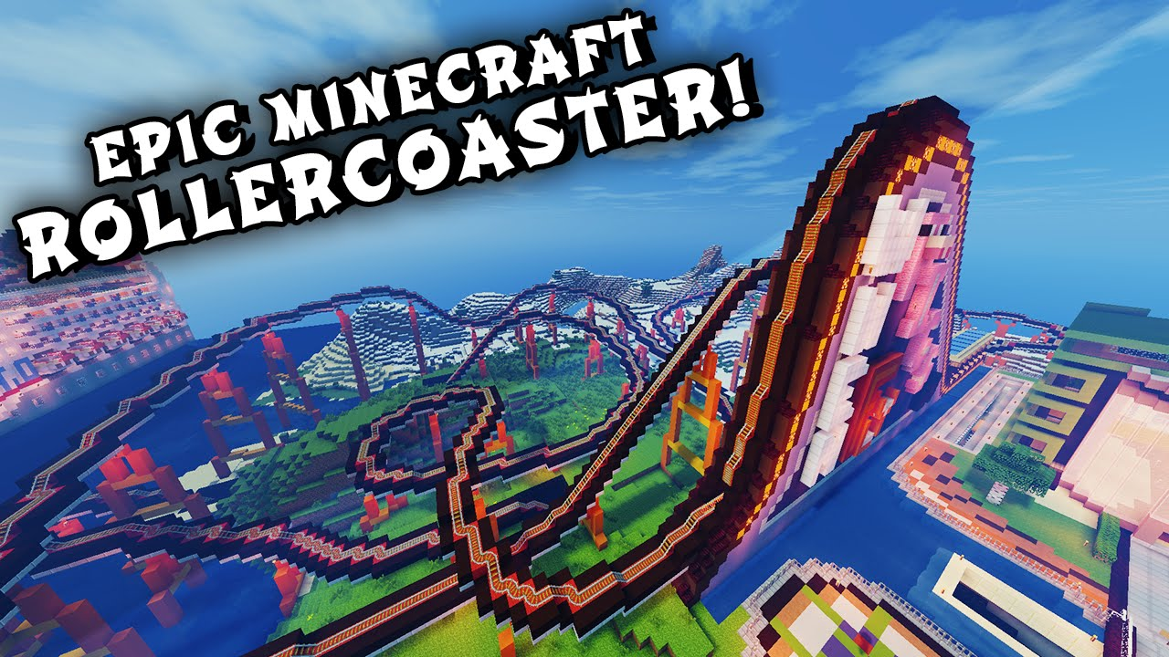 Minecraft Maps - EPIC ROLLERCOASTER! (When Pigs Fly Rollercoaster ...