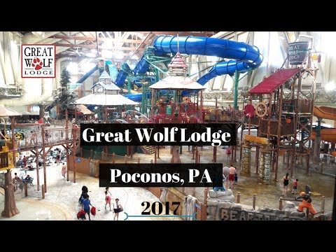 Great Wolf Lodge 2017 Poconos, PA Hotel Room Tour   Attractions and Dining