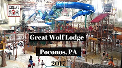 Great Wolf Lodge 2017 Poconos, PA Hotel Room Tour | Attractions and Dining