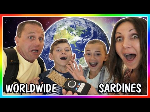 SARDINES AROUND THE WORLD! | HIDE AND SEEK | We Are The Davises