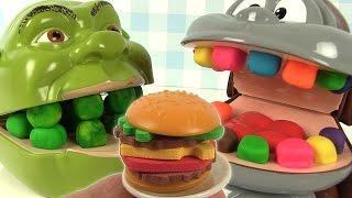 Play Doh Dentiste Shrek mange des hamburgers Burger Mania Game thumbnail