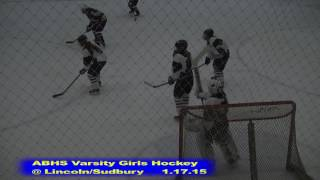 Acton Boxborough Girls Ice Hockey at Lincoln Sudbury 1/17/15