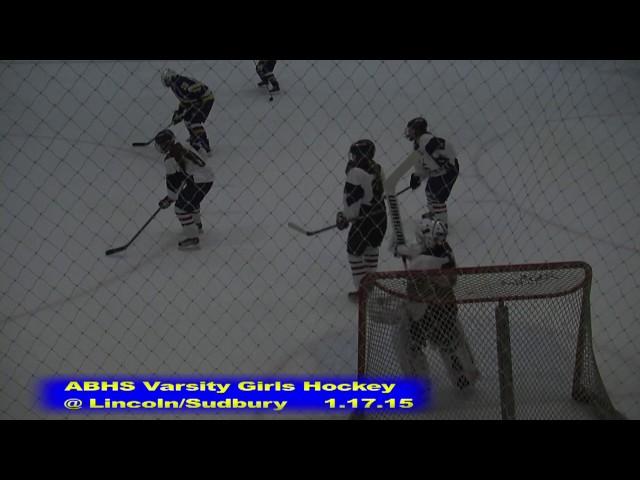 Acton Boxborough Girls Ice Hockey at Lincoln Sudbury 1/17/15