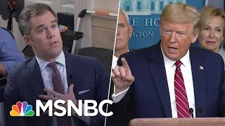 Gambar cover 'You're A Terrible Reporter': Pressed On Coronavirus, Trump Berates NBC's Peter Alexander | MSNBC