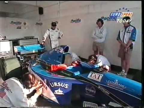 Jean-Denis Délétraz makes his debut for Pacific - 1995 Portuguese Grand Prix
