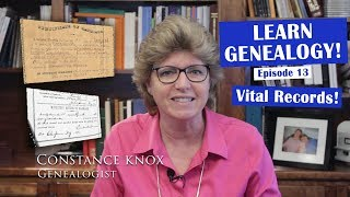 Learn Genealogy - Vital Records - Episode 13
