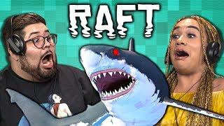 TRY NOT TO DIE CHALLENGE | Raft (React: Gaming)