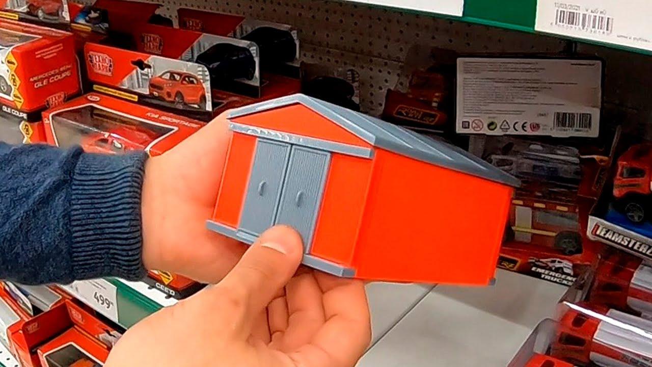Шикарный гараж для масштабных моделей 1/43