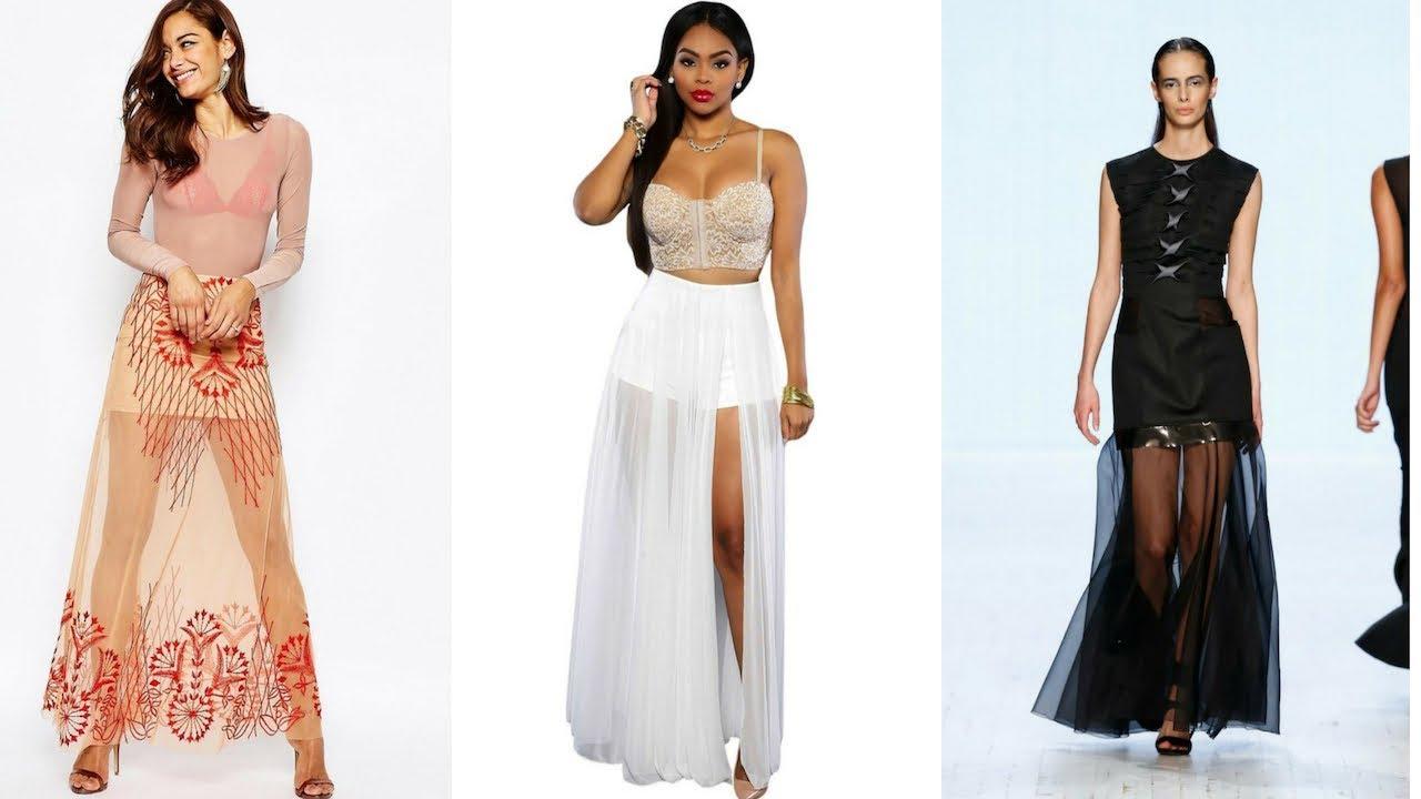 1dade5b906 FALDAS LARGAS TRANSPARENTES 👗 ¡15 Exclusivos Modelos!  Moda  Fashion   Faldas