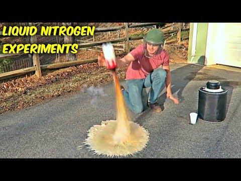 5 Liquid Nitrogen Experiments - Compilation