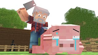 Repeat youtube video Pig Life - Craftronix Minecraft Animation