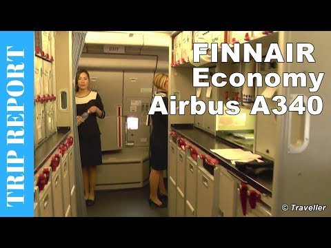 Finnair Airbus A340 Economy Class flight review to Bangkok Suvarnabhumi Airport - OH-LQF