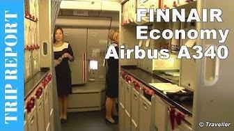 TRIP REPORT - Finnair Airbus A340 Economy Class flight Helsinki to Bangkok Airport Flight Review