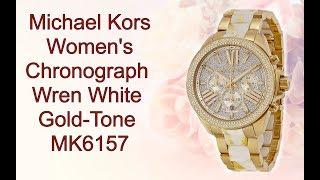 0056236a4e8a Michael Kors Women s Chronograph Wren White Gold Tone MK6157 ...