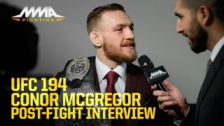 UFC 194: Conor McGregor discusses 'dream come true' win, what's next