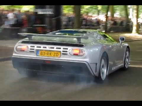 Bugatti EB110 insane acceleration + Veyron!