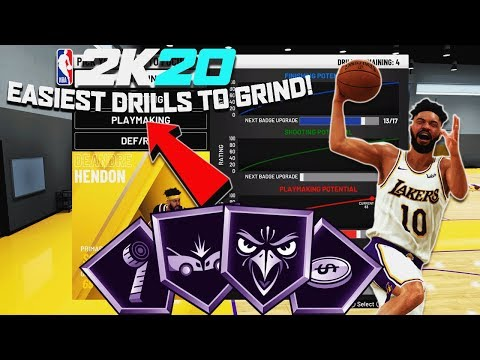 NBA2K20 - BEST DRILLS TO DO FOR BADGE GRINDING! NEVER TWO STAR A DRILL AGAIN!