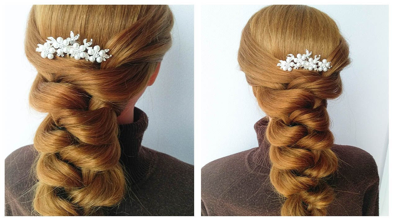 New Amazing Hairstyle for Wedding and Party ❤ Trending hairstyle 2020 ❤ Updo hairstyle with elastics