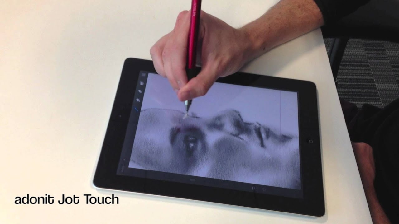 ipad art digital artist using adonit jot touch youtube