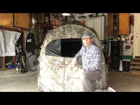 Doghouse Ground Blind - Customize It For Archery Hunting