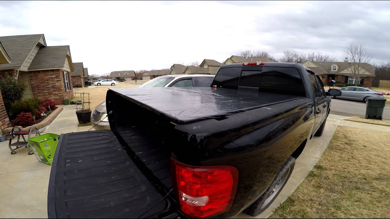 Folding Truck Bed Covers >> DIY How to build a truck bed cover - YouTube