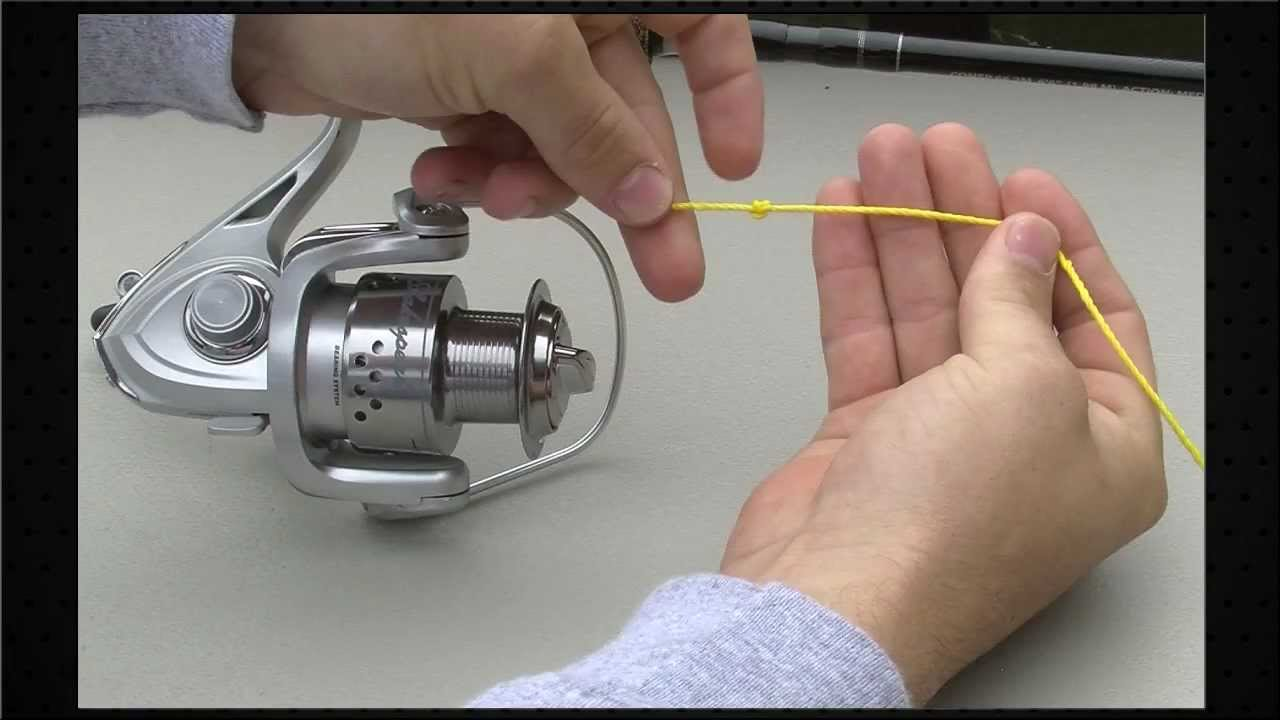 how to spool a spinning reel [ 1280 x 720 Pixel ]