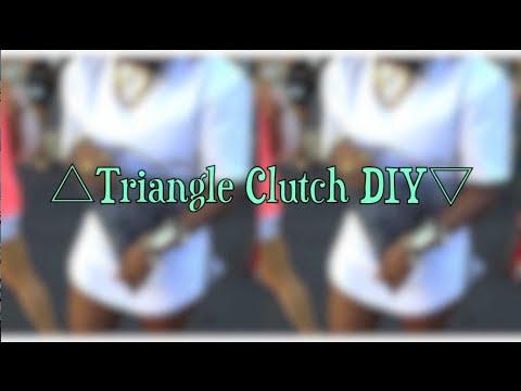 ▷ Triangle Clutch DIY/Tutorial ✄