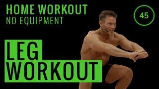 10 Minute Leg Workout | No Equipment Home Workout