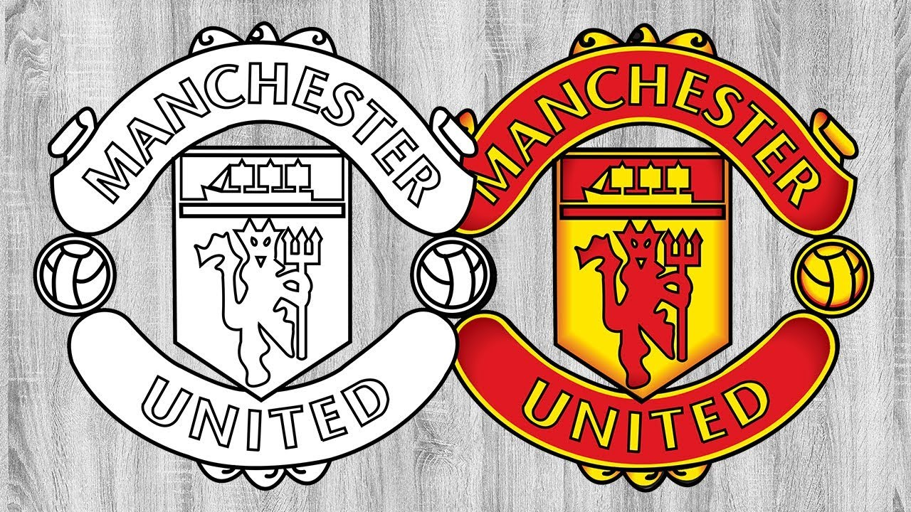 Manchester United Football Club Logo Manchester United Logo Coloring Book Dirty Drawing Youtube