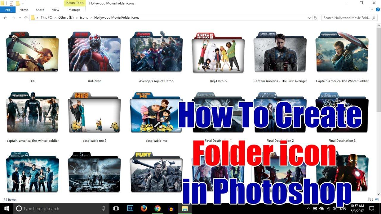 How To Create Custom Folder Icon In Photo Updated Video Techtutorials
