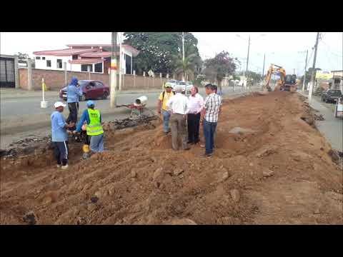 Microinformativo Yo Soy de Chone - Iniciaron los trabajos de la avenida Eloy Alfaro