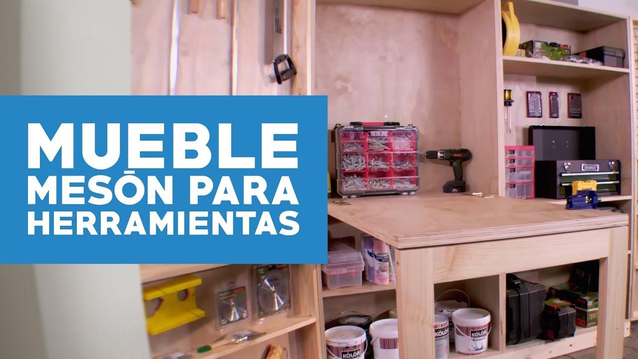 C mo hacer un mueble con mes n plegable para las - Mueble para herramientas ...