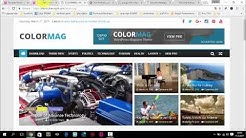 Wordpress Adım Adım Site Kurulumu | ColorMag Tema