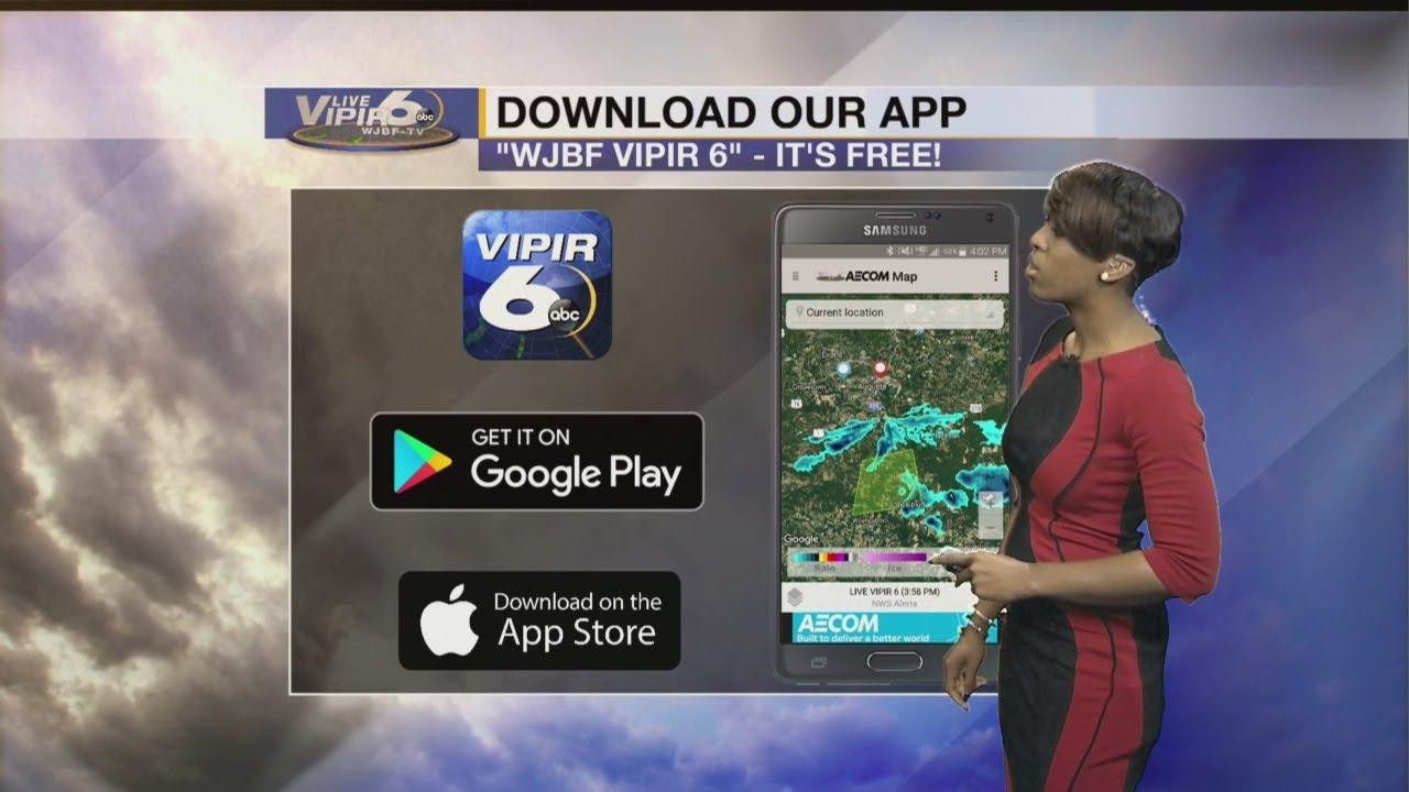 WJBF LIVE VIPIR 6 Forecast 6PM
