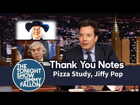 Thank You Notes: Pizza Study, Jiffy Pop