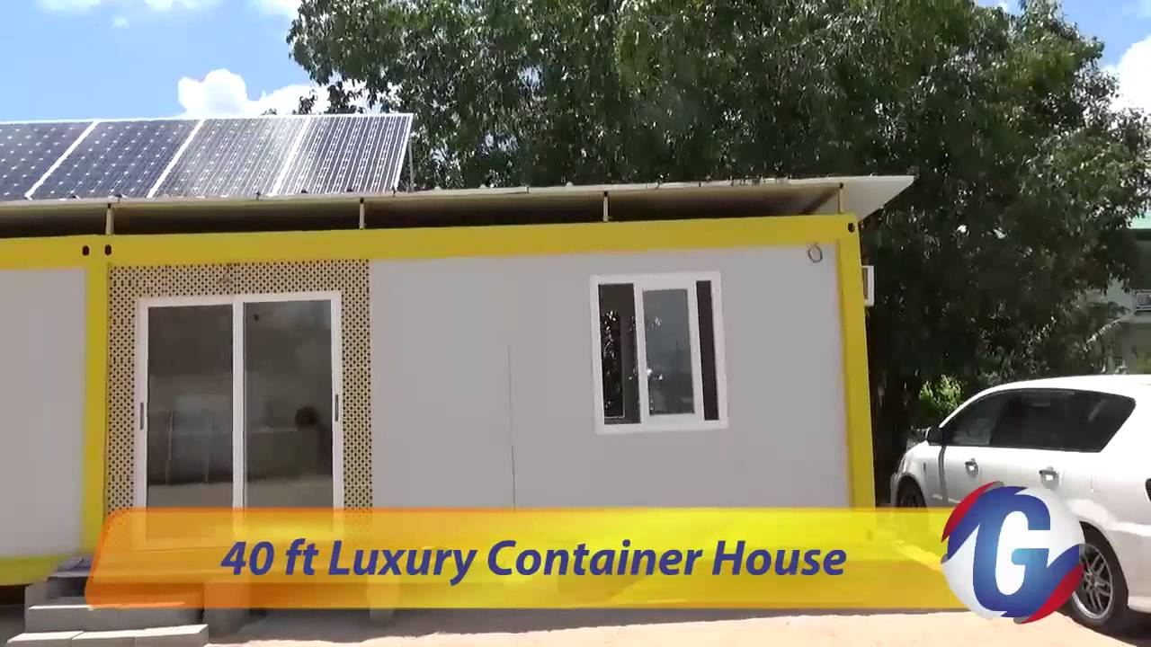 40 ft luxury container house in suriname youtube for 3 40 ft container home