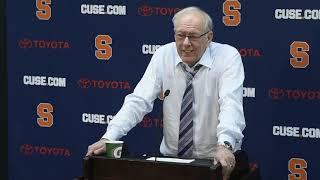 Jim Boeheim postgame news conference after Syracuse basketball vs. Boston College (2019)