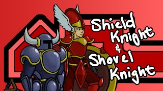 Watch me Speed Paint: Shovel Knight and Shield Knight