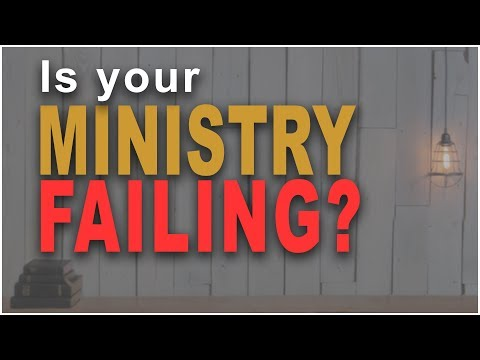 Top reason your ministry is failing