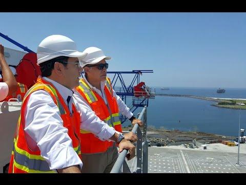 Presidente Jimmy Morales realiza una visita de reconocimiento a Puerto Quetzal