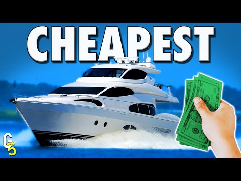 Top 5 CHEAPEST Private Yachts You Can Buy