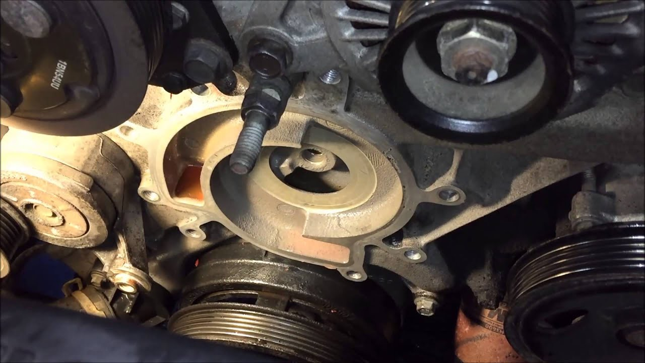 jeep liberty water pump replacement 3 7 v6 youtube. Black Bedroom Furniture Sets. Home Design Ideas