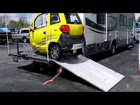 RV Ext Platform (Toy Hauler) Carrier Unloading / Loading / Maneuvering