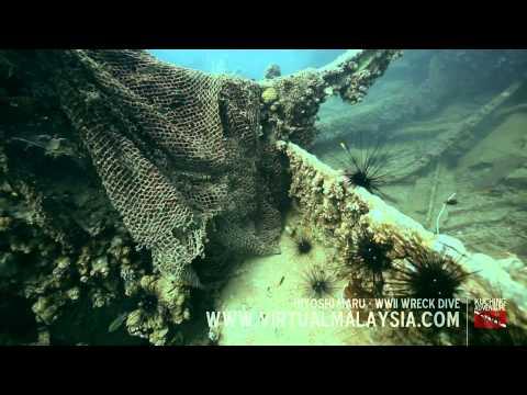 Hiyoshi Maru - WWII Wreck | Kuching Adventure Dive (FullHD)