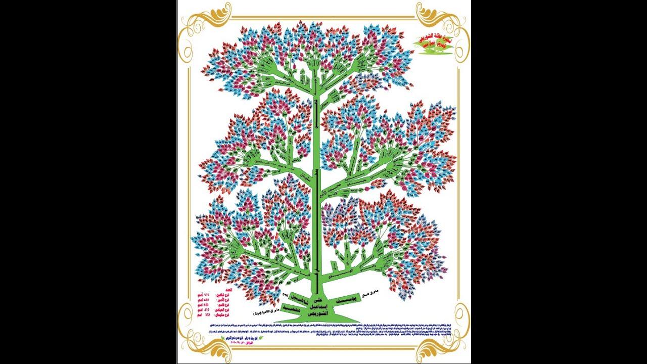 تصميم احترافي لشجرة العائلة Professional Design Of The Family Tree Youtube