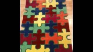 Children jigsaw rug 0.90 x 1.20m